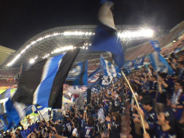豊田スタジアムアウェイガンバ大阪のゴール裏