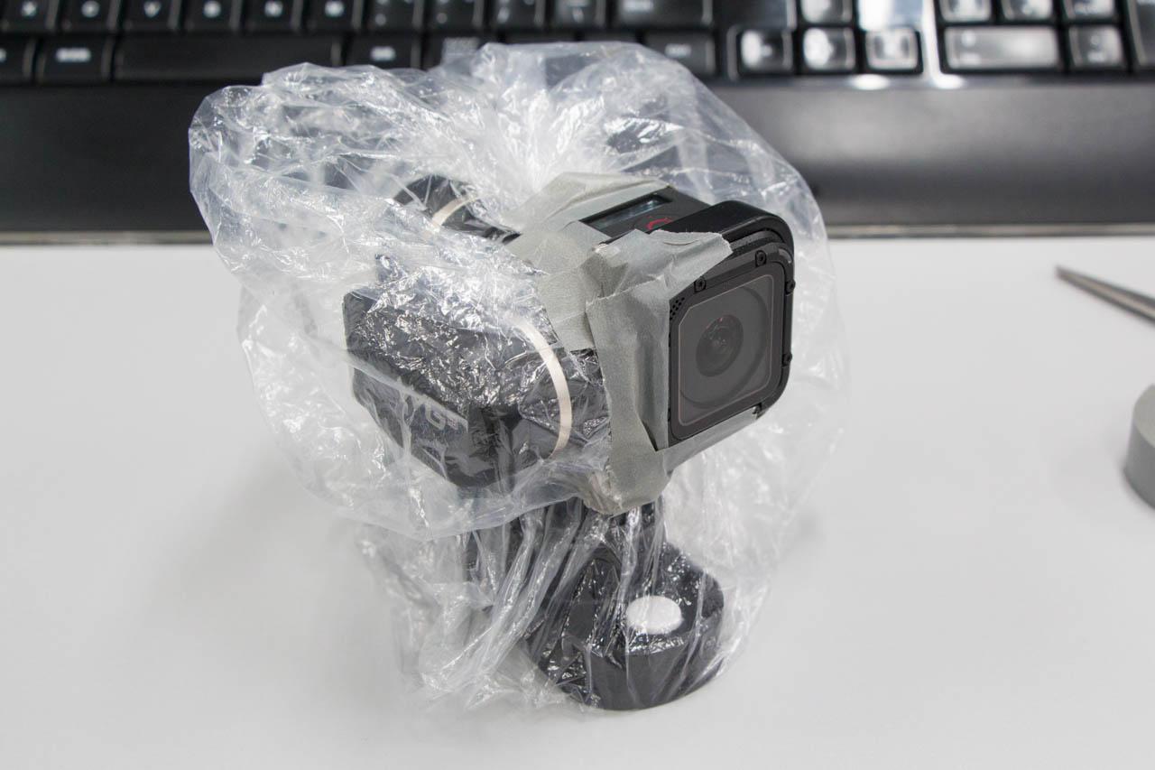 GoPro Session用ジンバルを防水仕様にして自撮りしてきたで