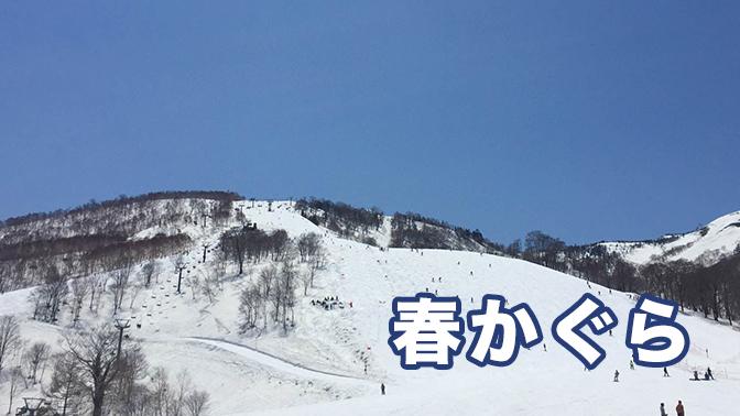 GW前半のかぐらスキー場でスノーボード