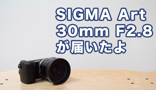 SIGMA Art 30mm F2.8 DNをNEX-5Rにつけて試し撮り