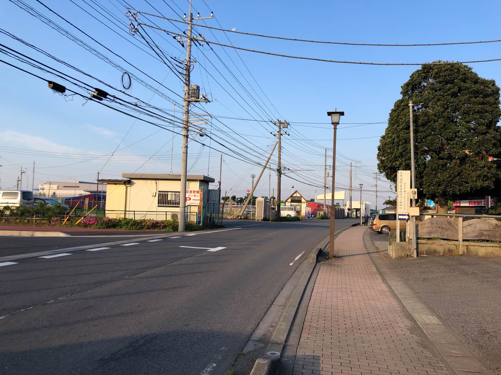 成田空港第3ターミナルへ外から徒歩で行く